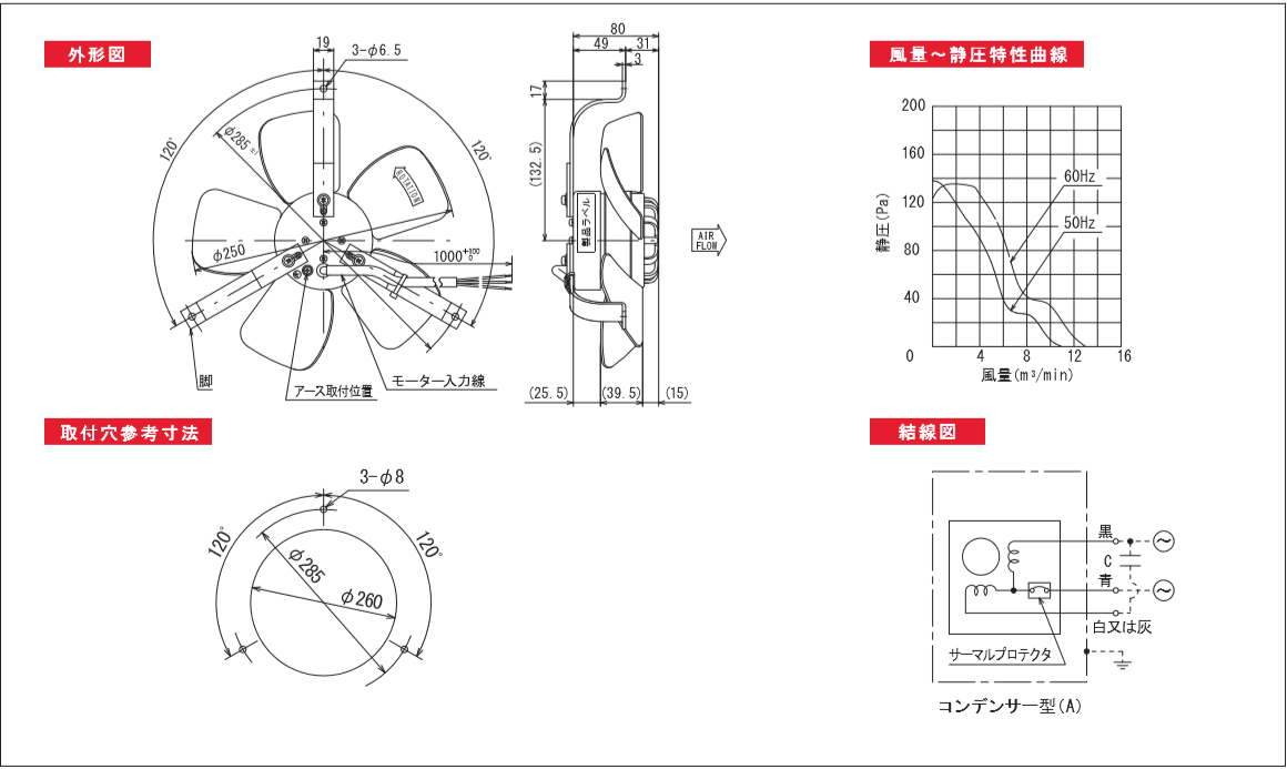 250P04-2TPシリーズ図面