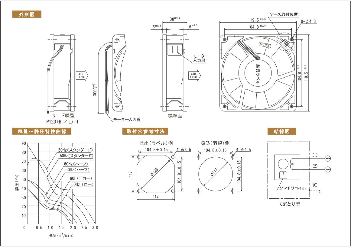 P12Dシリーズ図面