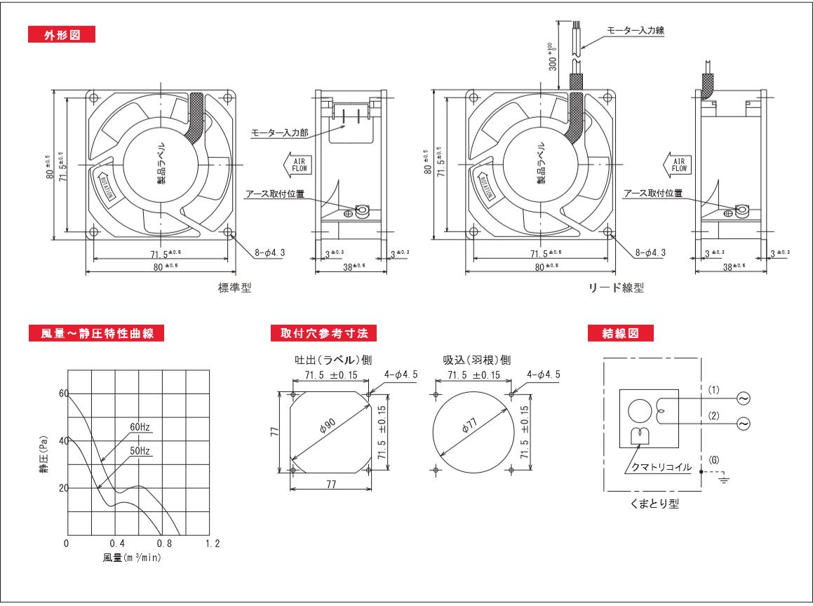 P80DSシリーズ図面